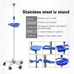 Hot sale hospital iv pole infusion stand on castors and good quality stainless steel